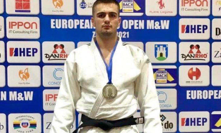 """Shpati Zekaj fiton medaljen e argjendtë në """"European Open"""" të Zagrebit"""
