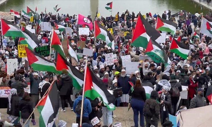 Në Washington zhvillohet protestë në mbështetje të Palestinës
