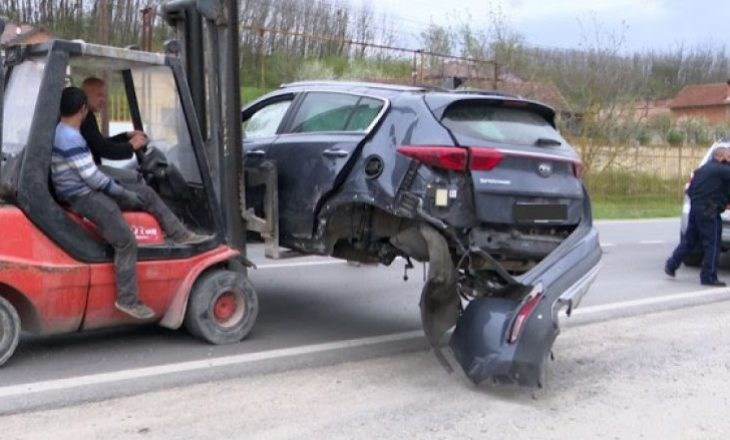 Gjashtë të lënduar në një aksident trafiku në Leshan të Pejës