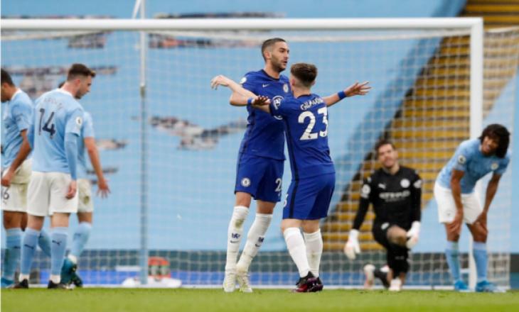 """Chelsea mposht City në """"Etihad"""", shtyn festën e titullit për ekipin e Guardiolës"""