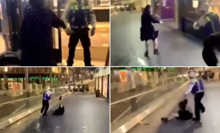 I hodhi pijen në fytyrë, roja e restorantit e rrah me shkop e shkelma gruan britanike