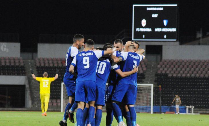 Prishtina arrinë fitore ndaj Inter d'Escaldes, kalon në fazën tjetër të Champions