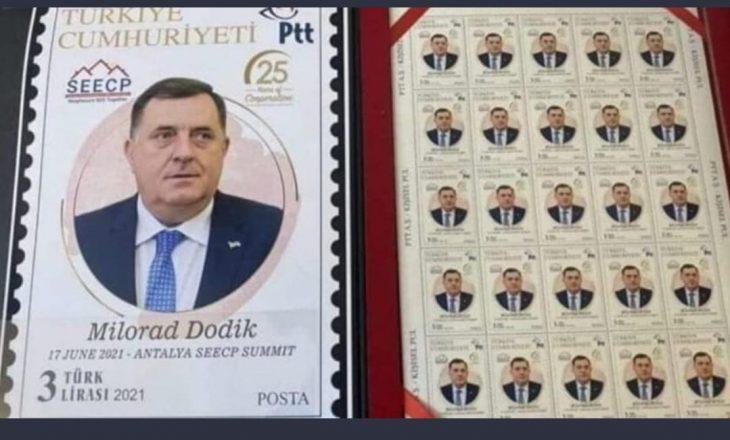 Turqia bën pullë postare portretin e mohuesit të gjenocidit në Srebrenicë