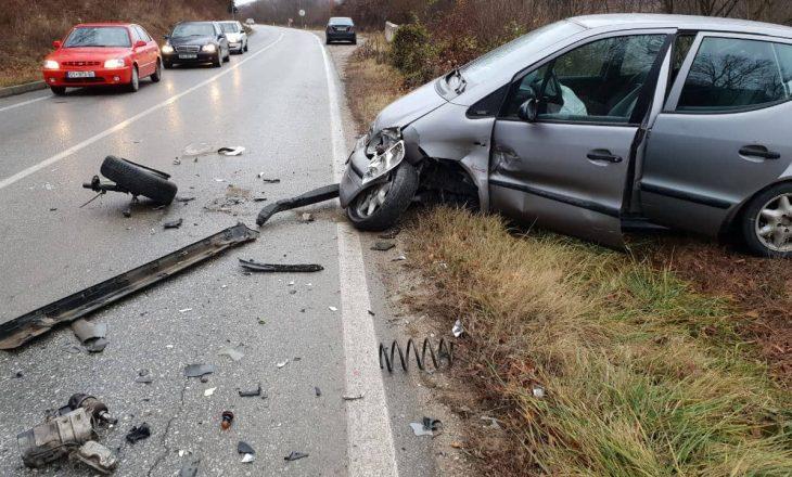 Një i lënduar nga aksidenti në autostradën Prishtinë-Ferizaj