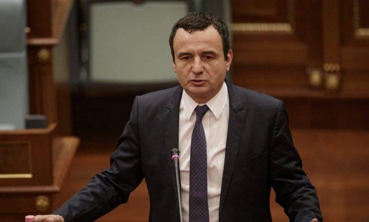 Kurti të premten raporton para deputetëve për dialogun