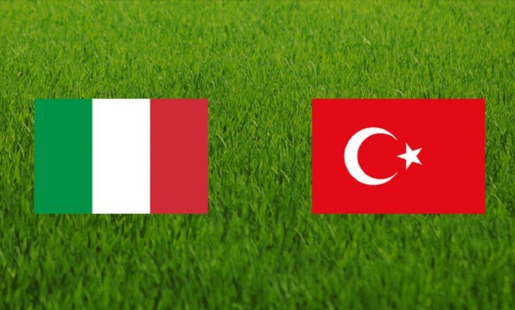 Turqi – Itali: Formacionet zyrtare
