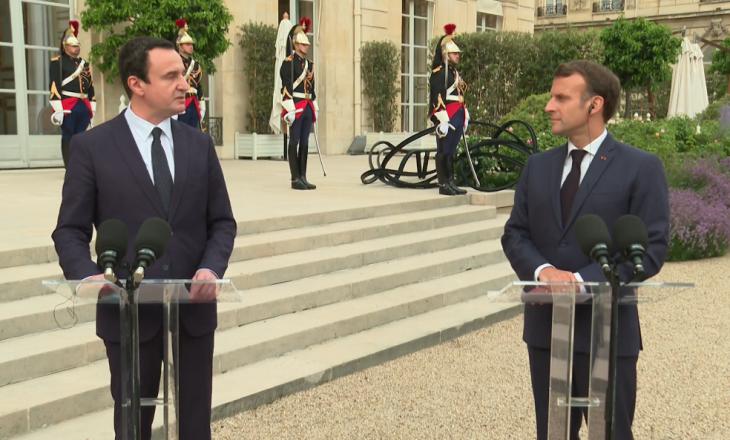 Kurti: Macron më pyeti se çfarë mund të japë Kosova për njohjen nga Serbia