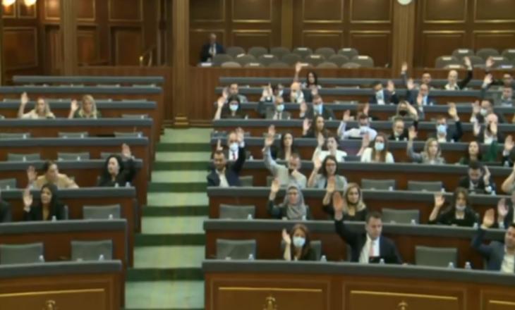 Kuvendi voton pro miratimit të propozim-rezolutës për dënimin e gjenocidit në Srebrenicë
