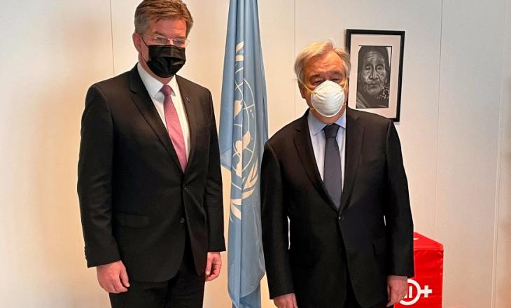 Lajçak flet me sekretarin e Kombeve të Bashkuara për dialogun Kosovë-Serbi