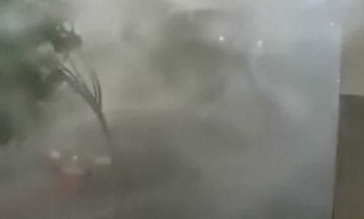 Pamje nga stuhia e fuqishme që goditi sot Lipjanin