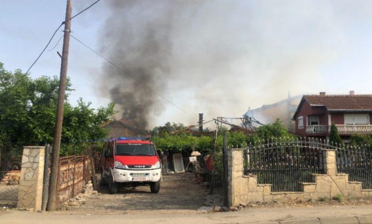 Katër shtëpi kaplohen nga zjarri në Graçanicë