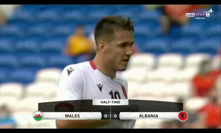 Përfundon pa gola pjesa e parë mes Uellsit dhe Shqipërisë