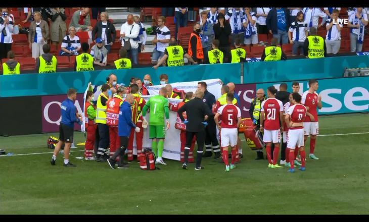 Futbollisti i njohur pëson sulm kardiak gjatë ndeshjes Danimark – Finland