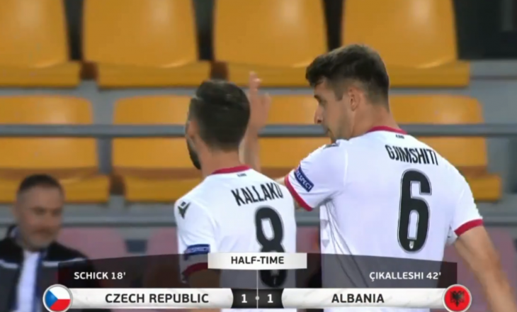 Përfundon pjesa e parë me rezultat të barabart mes Çekisë dhe Shqipërisë