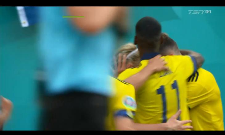 Pas shumë vështirësish, Suedia mposht Sllovakinë