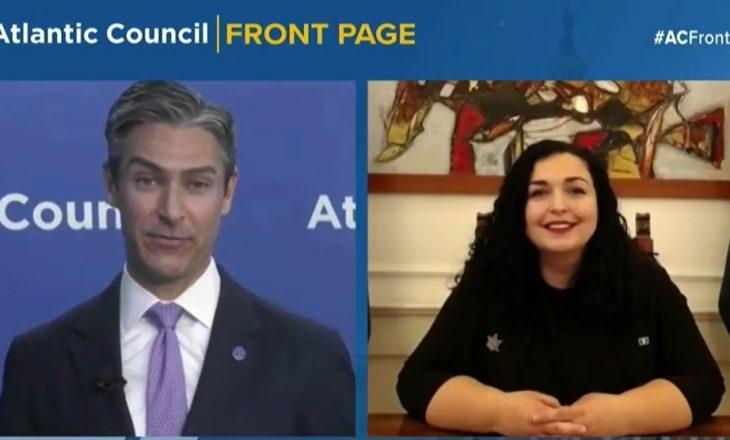 Osmani për Atlantic Council: Njohja reciproke, qëllimi i vetëm për të cilin Kosova merr pjesë në dialogun me Serbinë