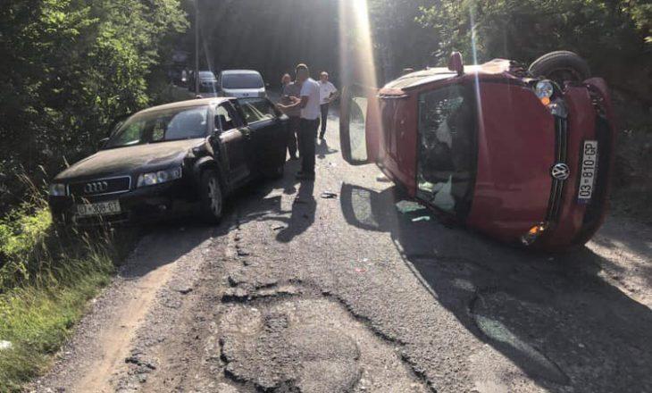 Aksident në Grykë të Rugovës, tre të lënduar