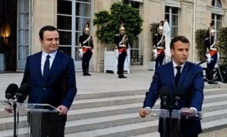 Kurti tregon dhuratën që mori dje nga Macron
