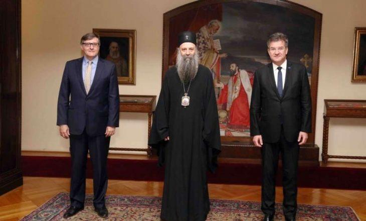Lajçak e Palmer flasin me patriarkun e Kishës Ortodokse Serbe për dialogun