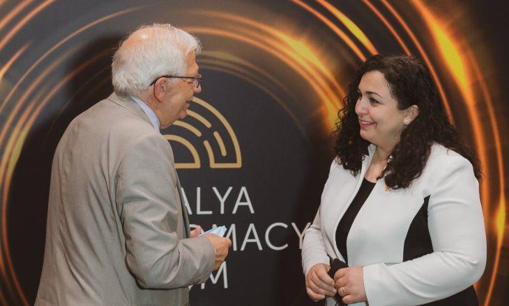 Presidentja takohet me Borrellin, flasin për dialogun e vizat