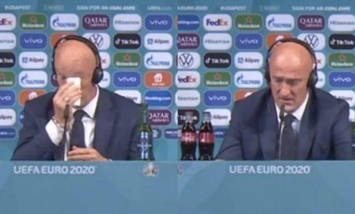 Trajneri i Hungarisë në arriti t'i mbajë lotët pas barazimit me Francën
