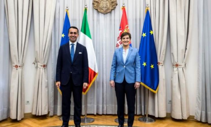 Para se ta vizitojë Kosovën kryediplomati italian takohet me Brnabiqin