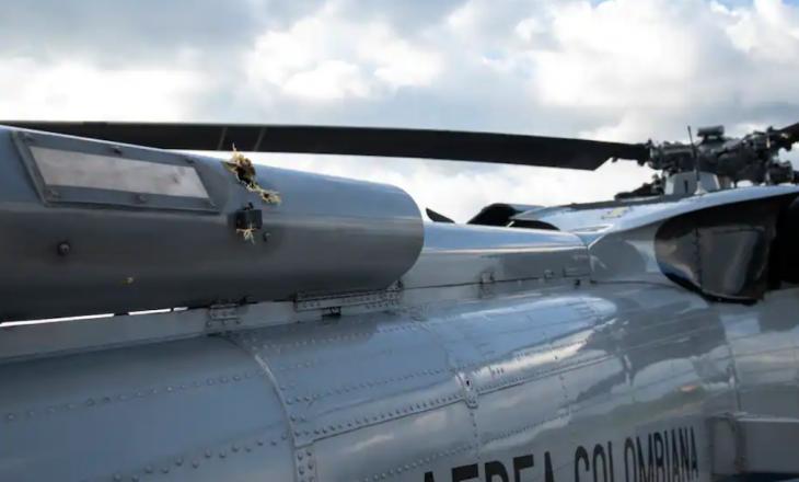 Sulmohet me armë zjarri helikopteri i presidentit të Kolumbisë