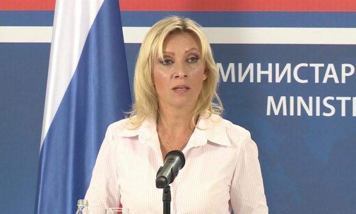 Zëdhënësja e MPJ-së ruse: Kosova është vrimë e zezë në Evropë