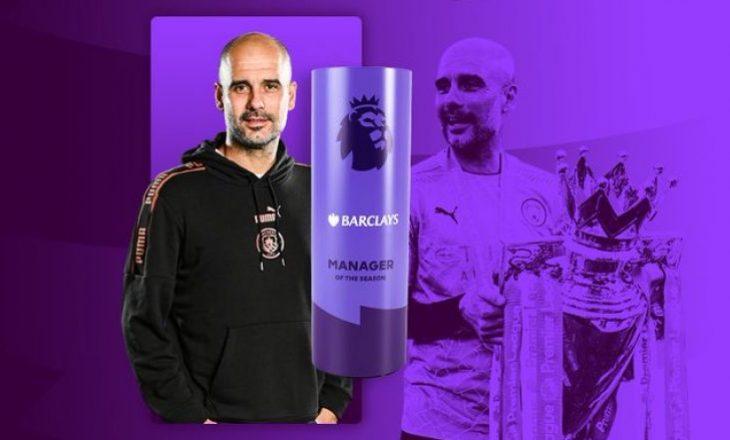 Pep Guardiola shpallet trajneri i vitit në Premier League