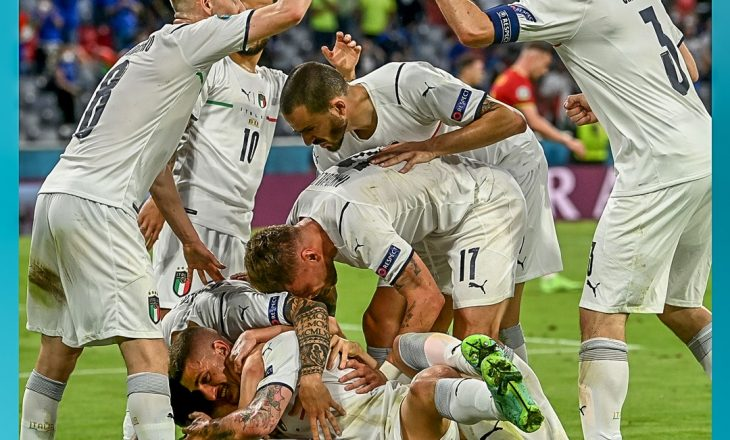 Italia fiton ndaj Belgjikës, siguron gjysëmfinalen