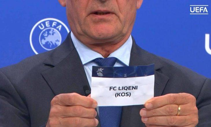 FC Liqeni mëson kundërshtarët në Ligën e Kampionëve në futsal