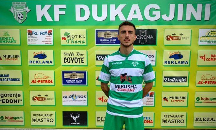 Dukagjini zyrtarizon transferimin e Arbër Shalës