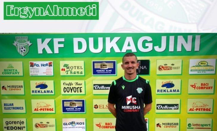 KF Dukagjini zyrtarizon transferimin e Ergyn Ahmetit