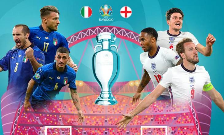 Itali – Angli: Formacionet zyrtare
