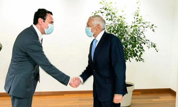 Kurti gjatë takimit me Clark: Jemi të vendosur që Kosova të jetë pjesë e NATO-s