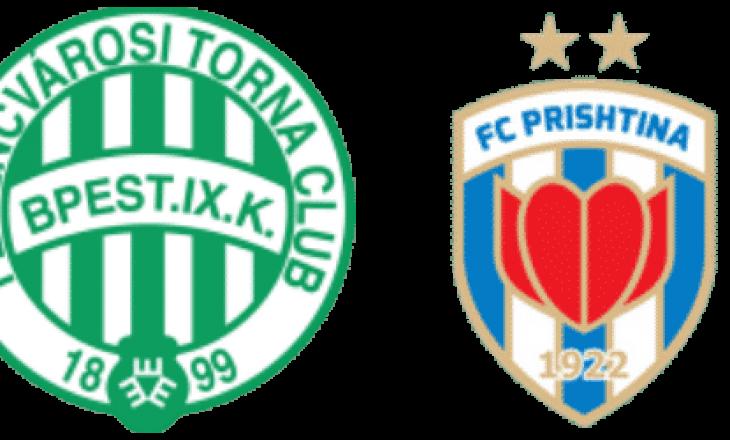 Ferencvaros – Prishtina: Formacionet zyrtare