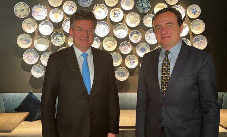 Kryeministri Kurti takohet me Lajçakun para takimit me Vuçiqin