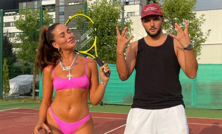 Loredana në bikini luan tenis me Dardin, reagimi i Mozzikut epik