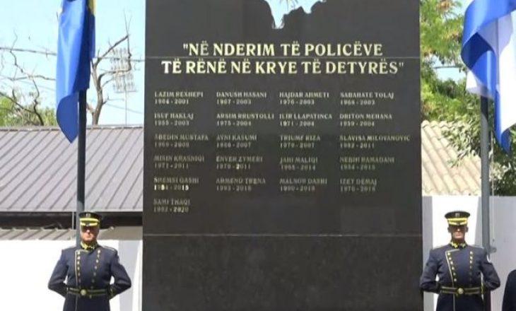 Zbulohet pllaka përkujtimore për 21 zyrtarët policorë të rënë në krye të detyrës