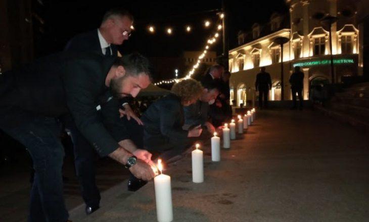 Ndizen qirinj në nderim të viktimave të aksidentit në Kroaci