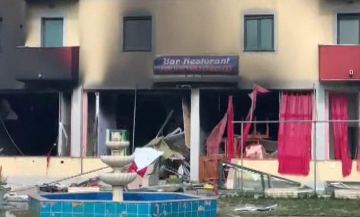 Plagosën katër persona mes tyre dy të mitur, pamjet e hotelit të shkrumbuar nga flakët në Velipojë
