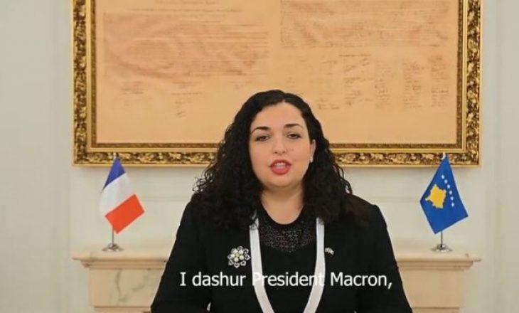 Presidentja Osmani uron Macronin në gjuhën frënge për Ditën Kombëtare të Francës