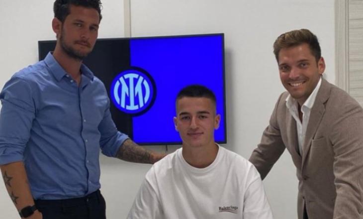 Andi Hoti nënshkruan kontratë profesionale me Interin
