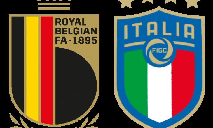 Belgjikë – Itali: Formacionet zyrtare