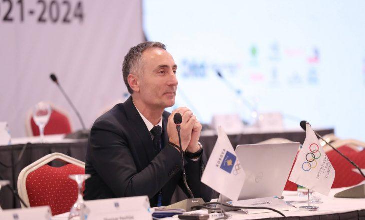 Presidenti KOK-ut, Ismet Krasniqi uron medalisten e artë, Distria Krasniqin