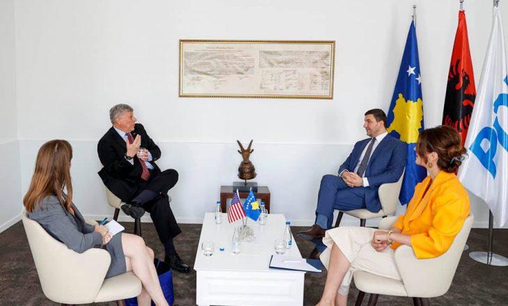 Memli Krasniqi pret në takim ambasadorin Kosnett