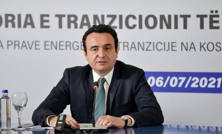 Kurti: Kosova duhet të ketë një strategji të energjisë të koordinuar mirë