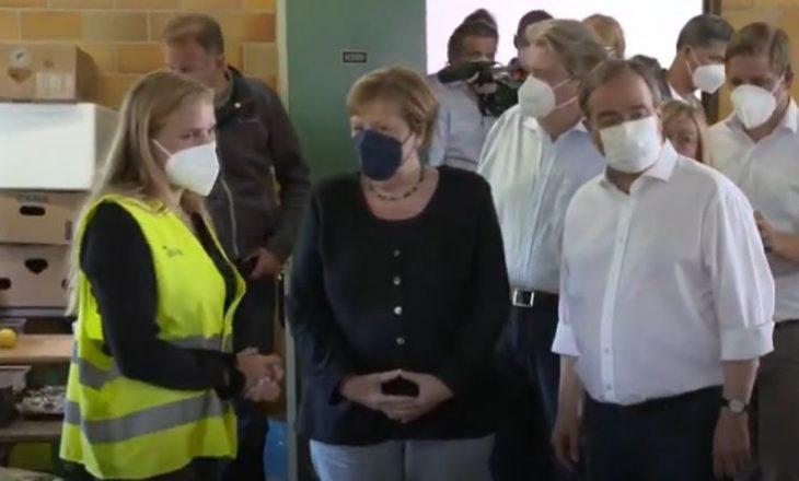 Merkel bën vizitën e dytë në rajonin e përmbytur