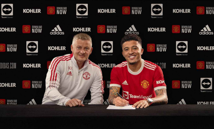Jadon Sancho zyrtarizohet te Manchester United
