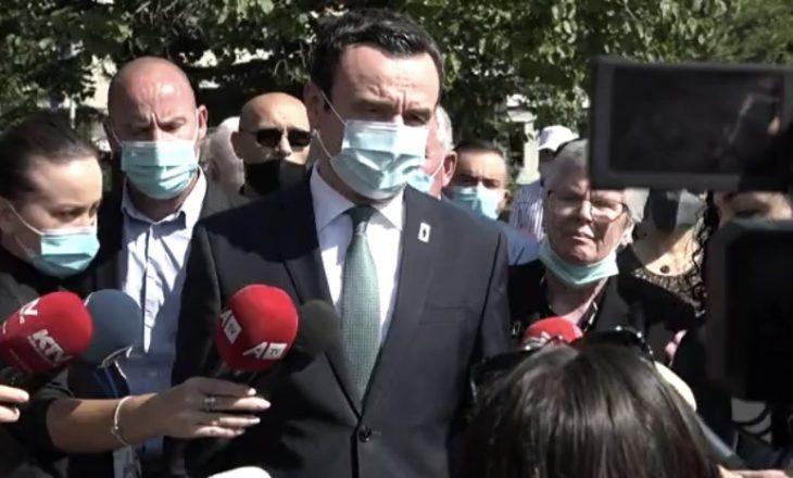 Kurti: Çështja e të zhdukurve është kryefjala jonë në secilin raport me Serbinë